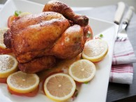 Spicy Lemon Roasted Chicken