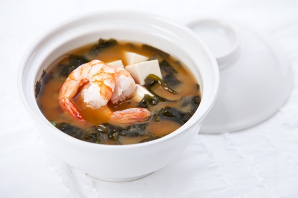 Shrimp and Tofu Miso Soup