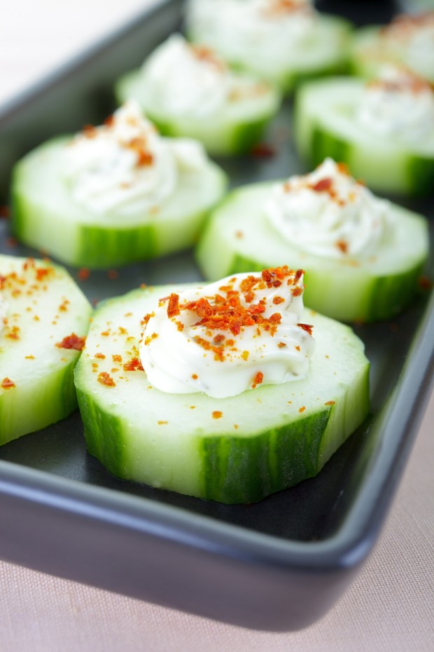 Spicy Stuffed Cucumbers